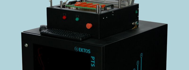 Test your printed circuit boards efficiently and reliably with the PTS by EKTOS