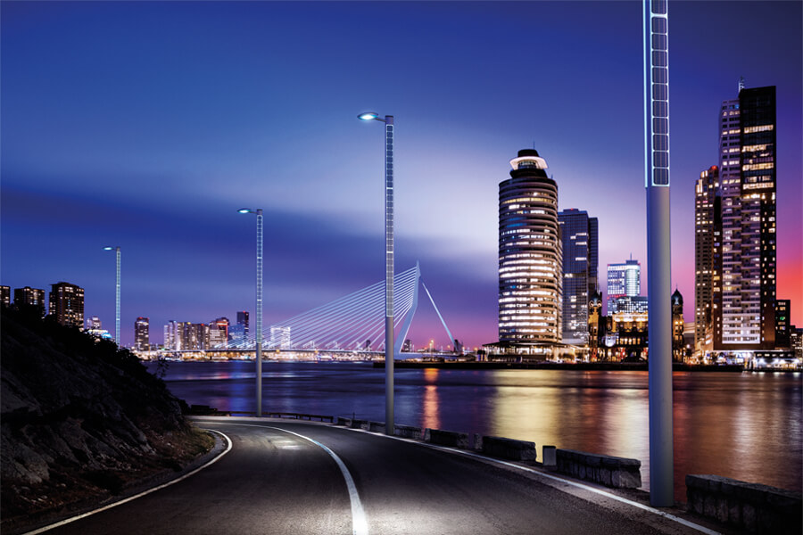 The intelligent lighting columns from Alfred Priess A/S get even smarter