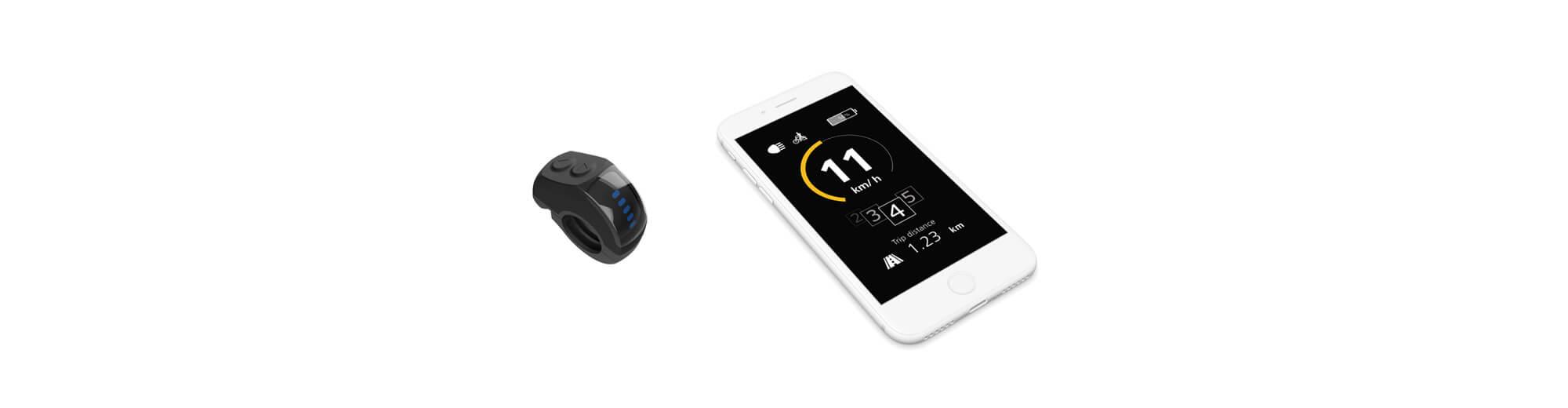 Smartphone og elcykel koblet sammen med IoT-løsning