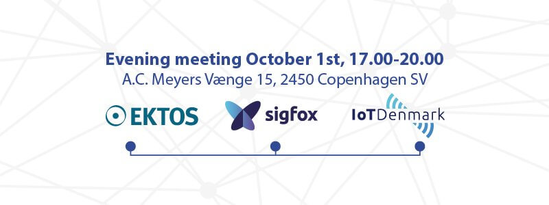 Evening meeting with Sigfox experts and snacks