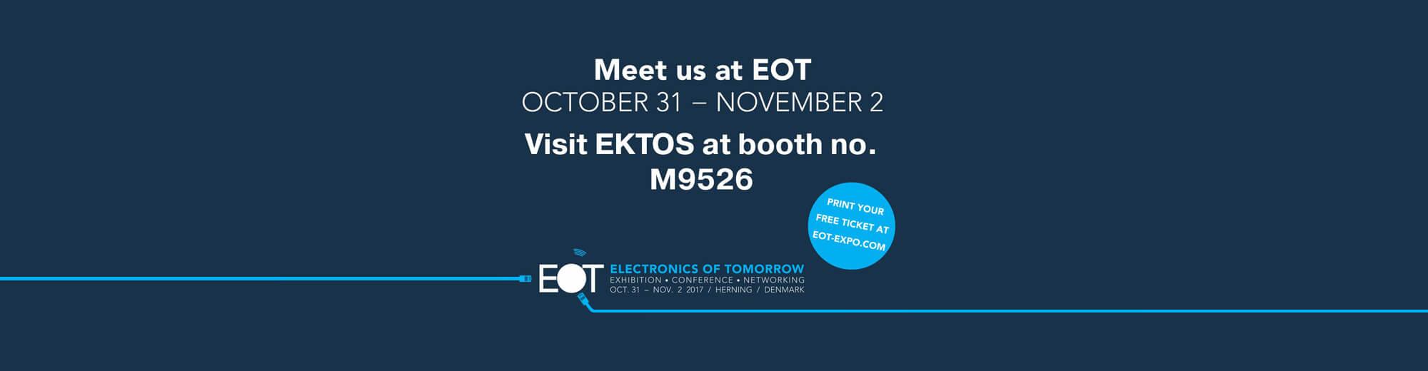 EKTOS er på EOT – kom og få en snak om bl.a. akkrediterede tests og prototypefremstilling af elektronik