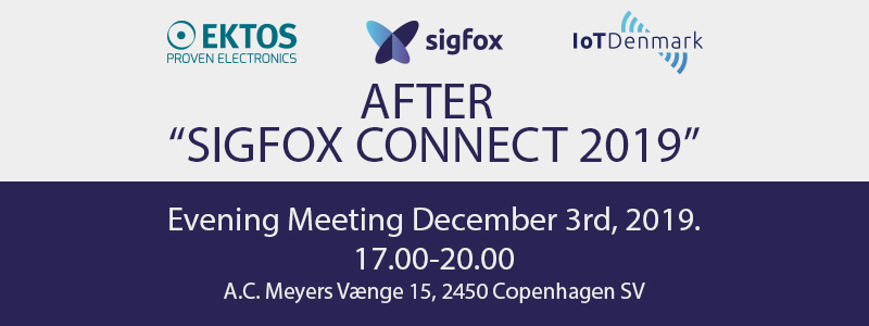 "Evening Meeting ""After Sigfox Connect"" on Dec. 3rd"