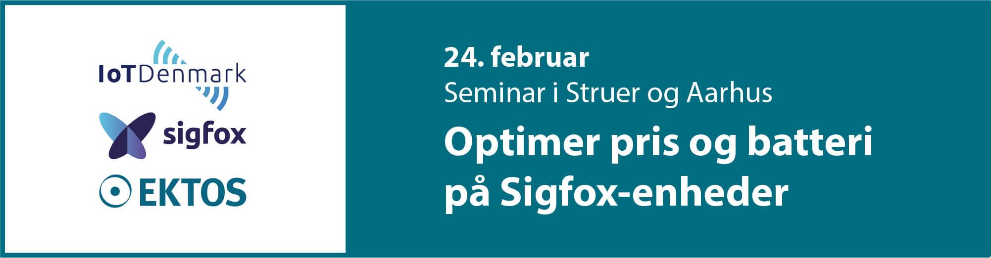 Seminar i Struer og Aarhus: Optimer pris og batteri på Sigfox-enheder